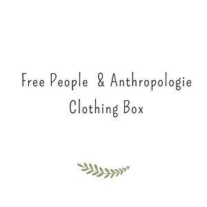 5 item Free People & Anthro clothing box